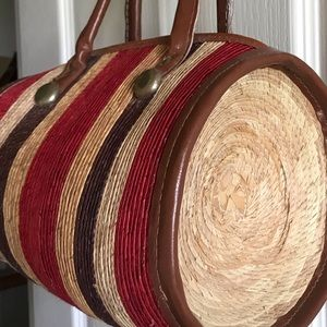 Straw round bag from Costa Maya Caribbean!